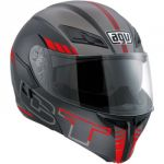 Мотошлем AGV COMPACT ST SEATTLE MATT BLACK/SILVER/RED